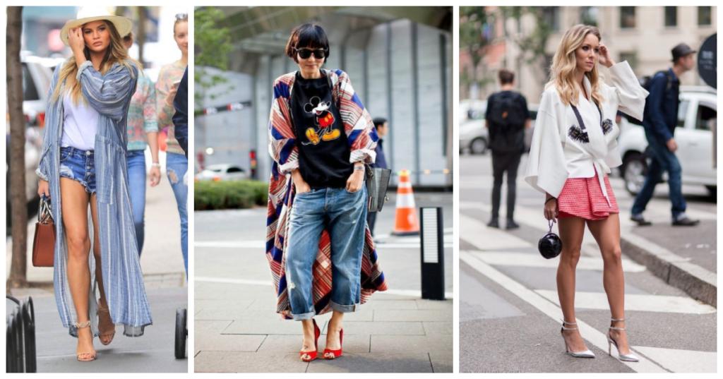 Modele court ou long, le kimono tendance 2020 est porter selon votre look et préférences
