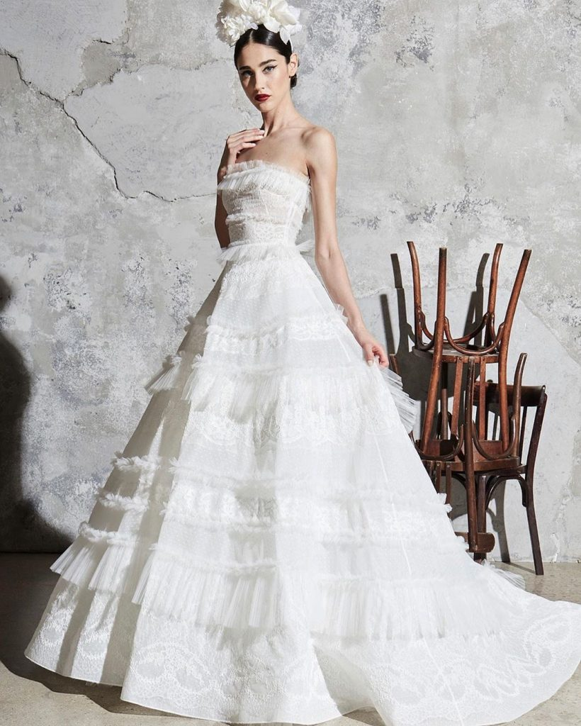 robe de mariée longue zuhair murad collection 2020