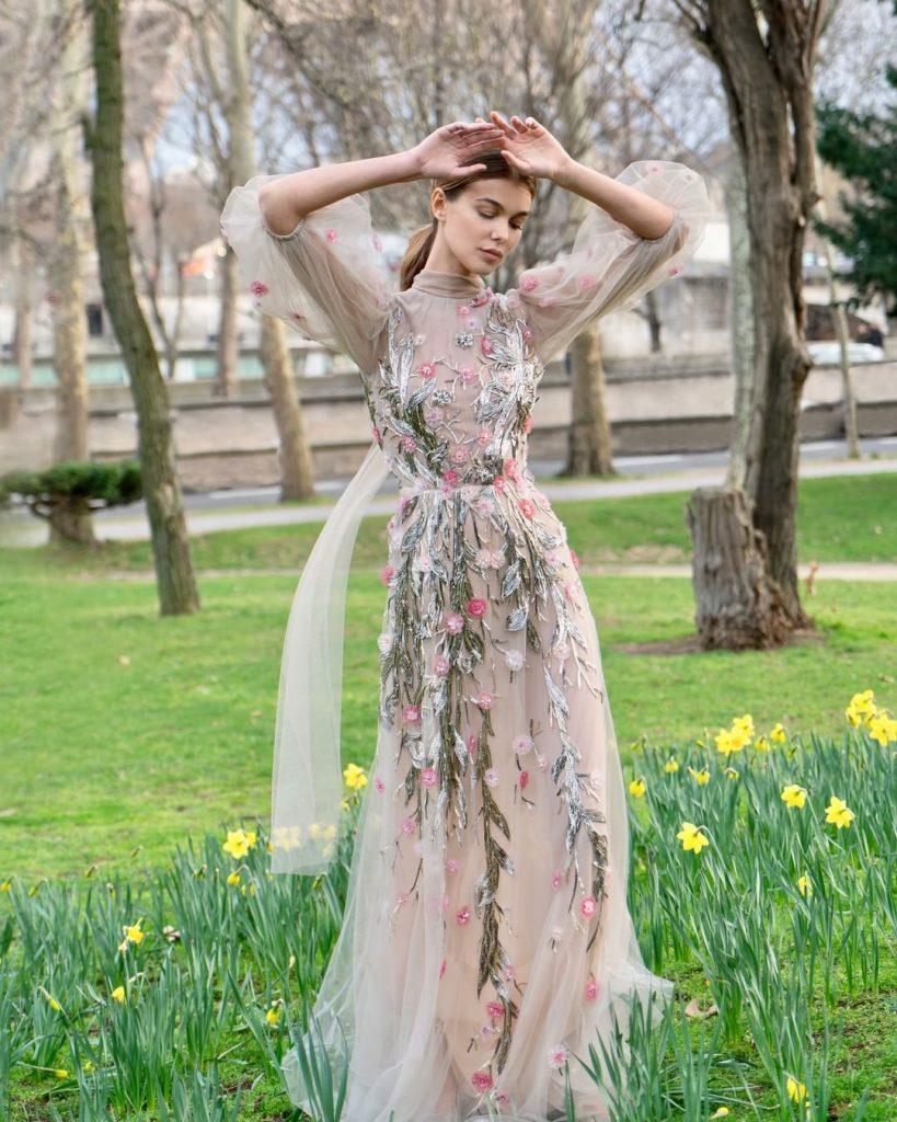 robe libanaise longue reem acra tendance 2020 modele 2