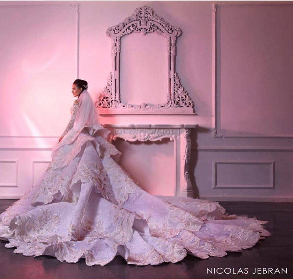 Robe de mariée libanaise tendance 2020 par Nicolas Jebran