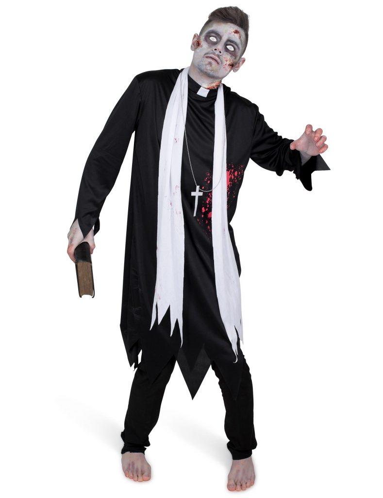 Costume zombie religieux homme