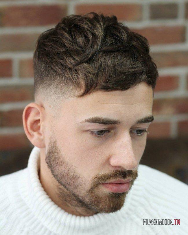 Coupe homme court et coiffure courte avec frange