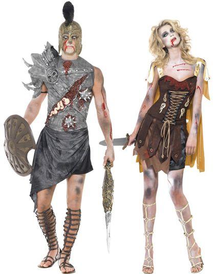 Déguisement de couple gladiateurs