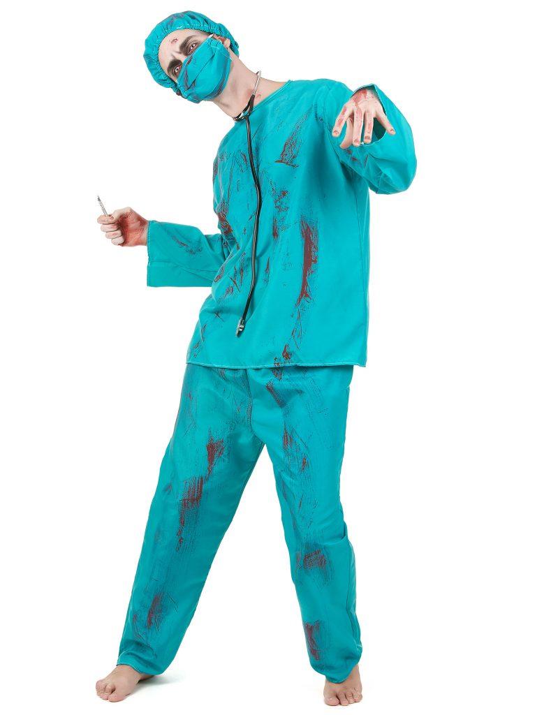 Déguisement chirurgien zombie