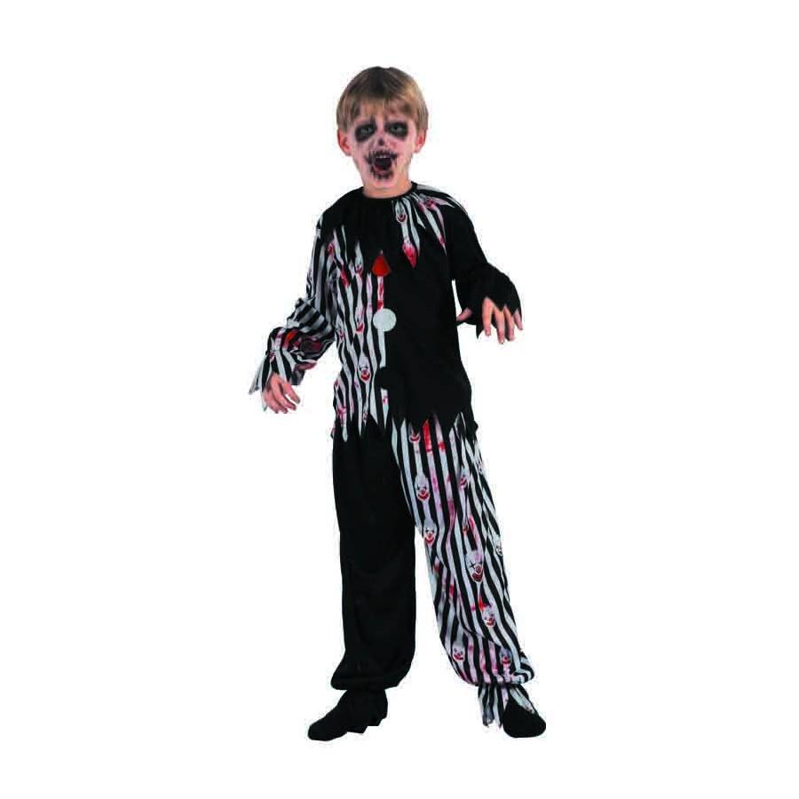 Déguisement clown tueur enfant noir et blanc