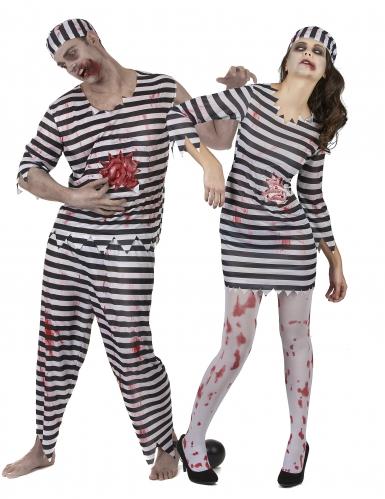 Déguisement couple de prisonniers