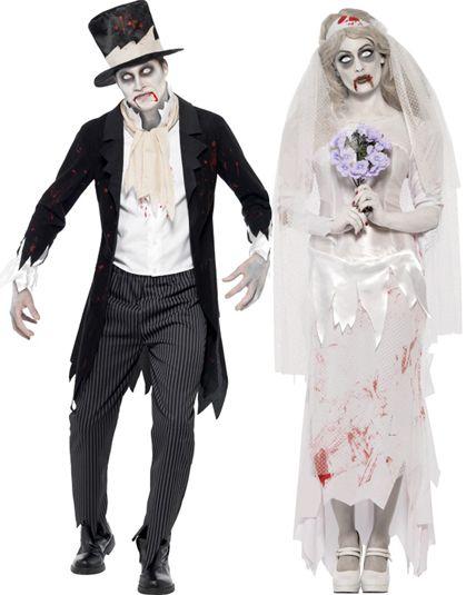 Déguisement couple de zombies