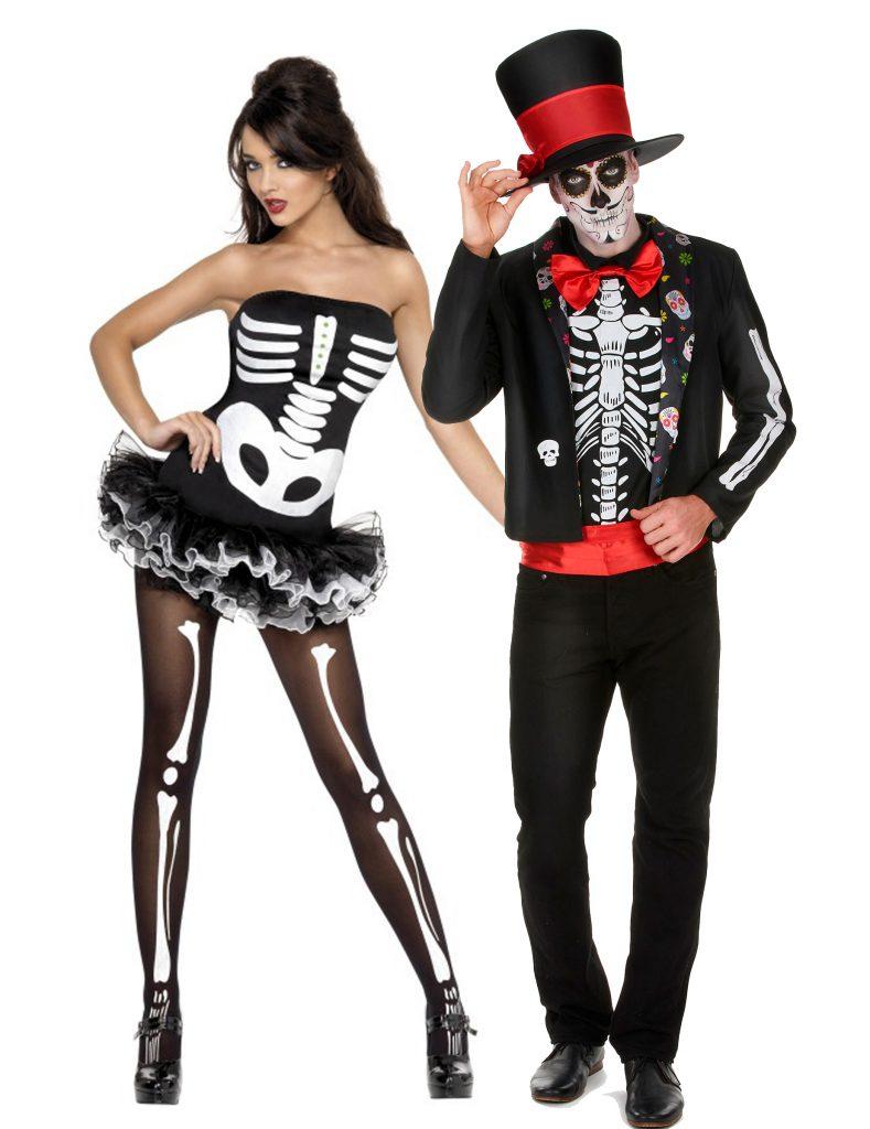 Déguisement couple squelette Halloween