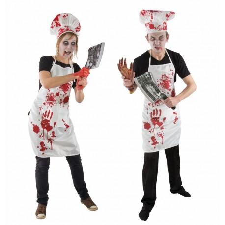 Déguisement de Cuisinier Sanglant Zombie