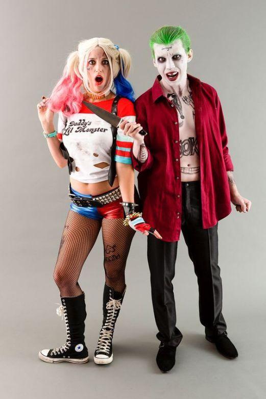 Déguisement de couple Harley Quinn et Joker