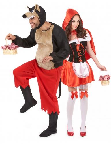 Déguisement de couple halloween Chaperon rouge