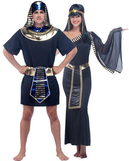 Déguisement duo roi et reine égyptienne