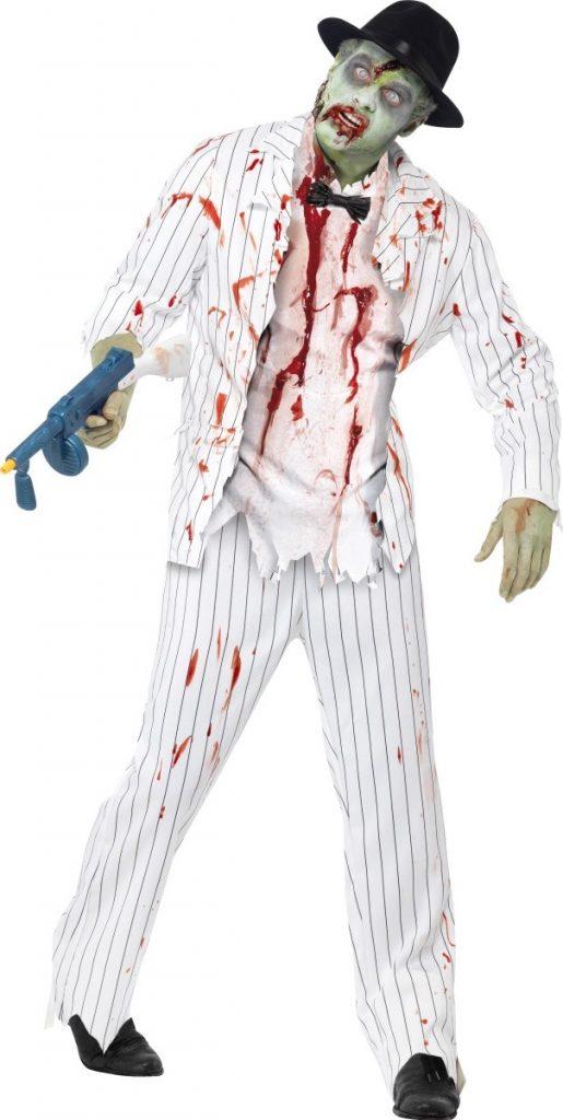 Déguisement gangster blanc zombie