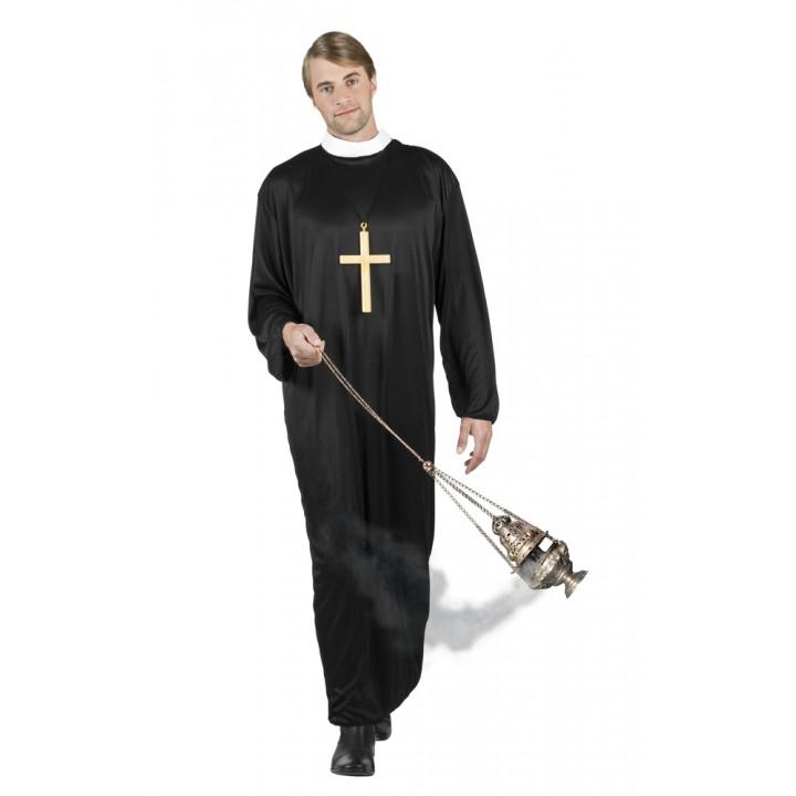 Déguisement prêtre noir