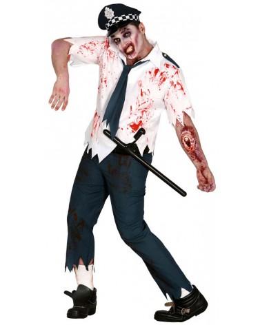 Déguisement zombie policier