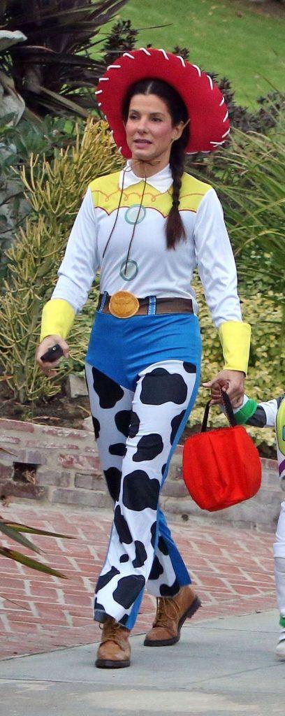 Sandra Bullock déguisée en Jessie de Toy Story