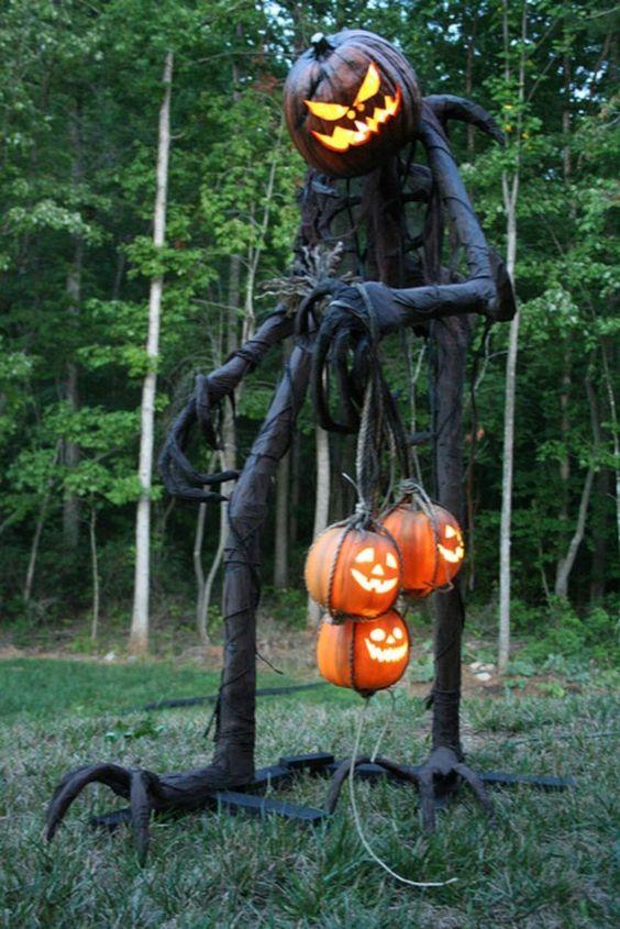 Décoration jardin de maison Halloween