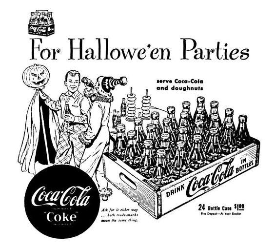 publicité Coca Cola 1950  Halloween