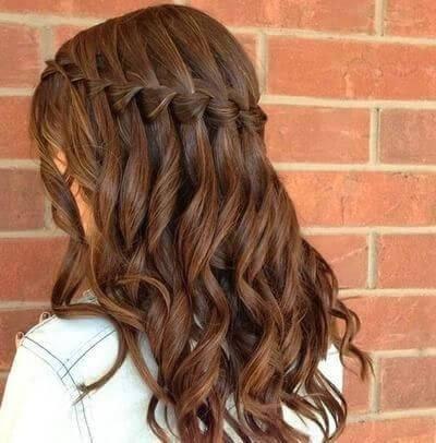 coiffures avec ondulations tresses cascade de tresses