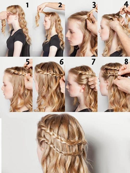 coiffures avec ondulations deux tresses