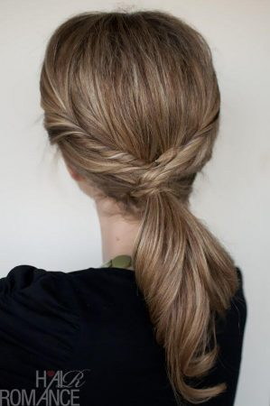 coiffures avec ondulations semi-colet