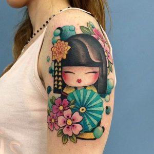 geishas tatouages bras