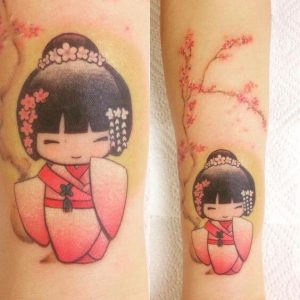 tatouage geisha avant-bras