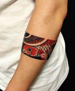 Tatouages d'avant-bras de femmes japonaises