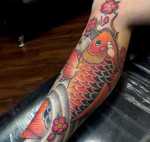tatouages de poissons koï