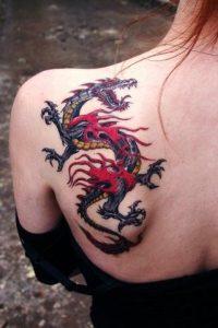 tatouages de dragon pour femmes