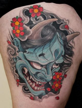masques de tatouage hannya