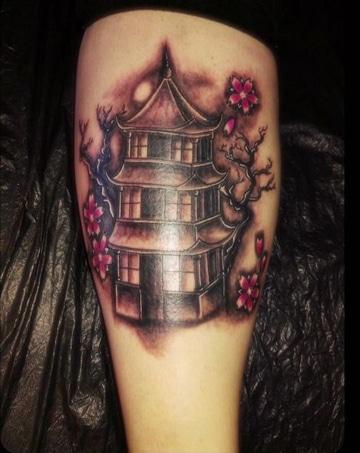 tatouages de maisons chinoises simples