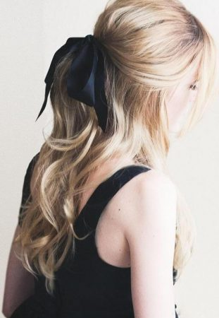 rubans de cheveux ondulés