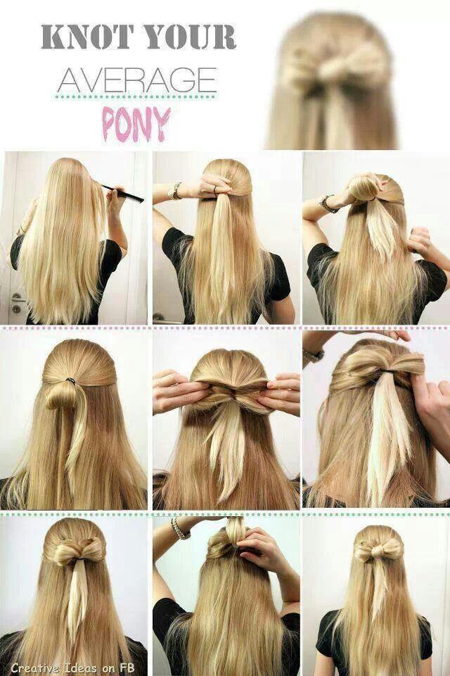 coiffure demi-queue avec ruban de singe