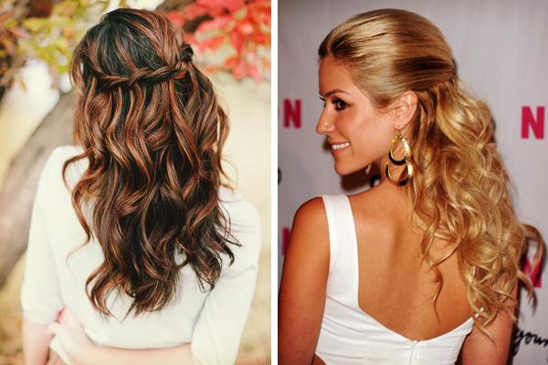 coiffure de mariée à moitié queue