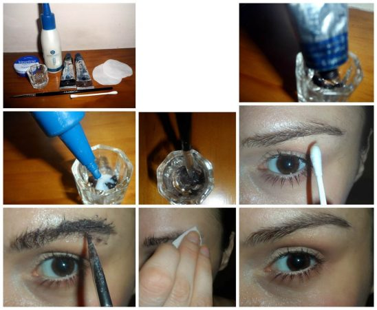 comment appliquer le colorant pour les étapes de sourcils