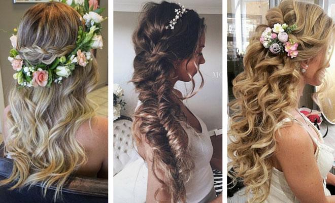 coiffures de mariage coiffures de mariée fleurs de mariée