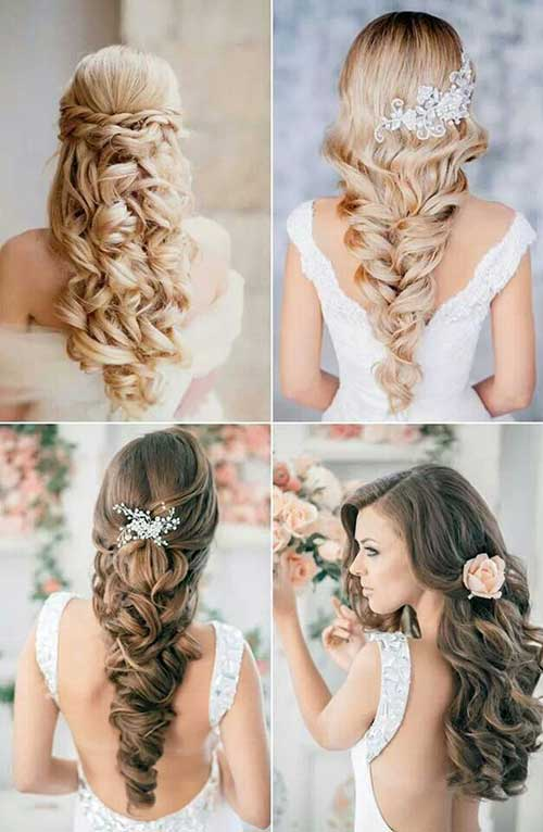 coiffures de mariage bouclées et ondulées