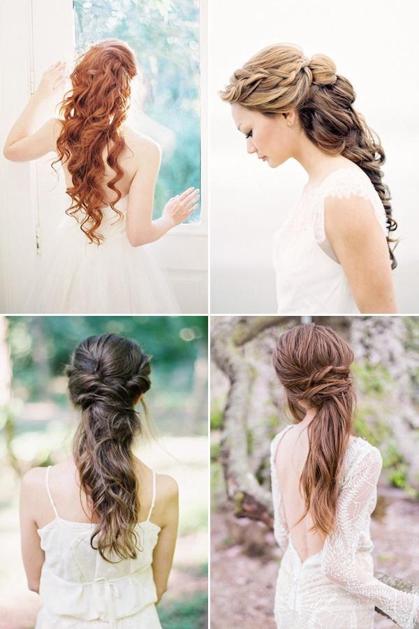 cheveux longs coiffures de mariage