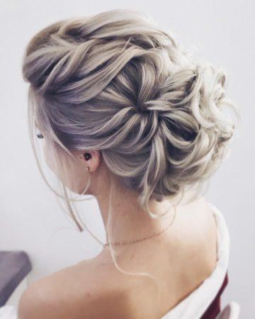 coiffure de mariage romantique updo