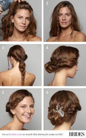 coiffures de mariage étapes étapes tresses hippie