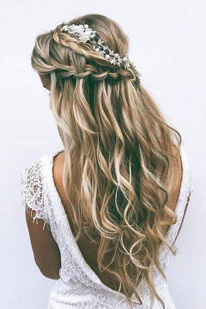coiffures de mariage trenzaz trenzaz cascade cheveux lâches