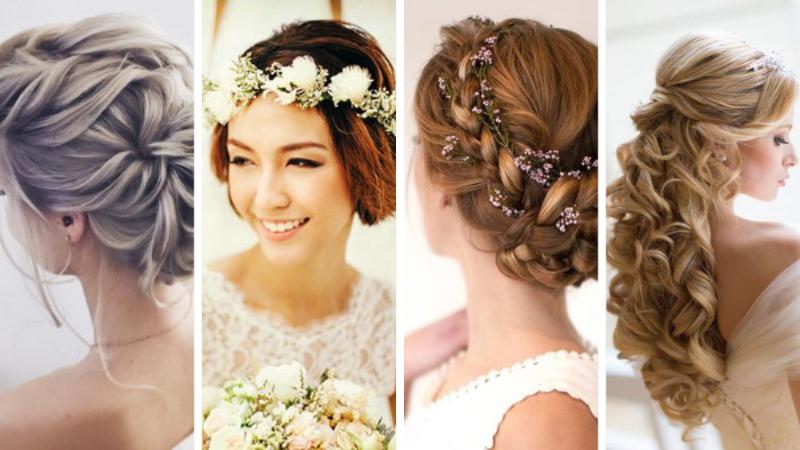 Tendances Cheveux : 21 Coiffures de mariage faciles pour la mariée et les invités en photos
