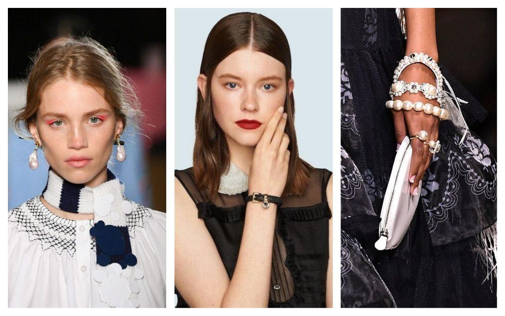 tendances bracelets dans les défilés de mode 2020, gauche à droite : Prada, Miu Miu & Simone Rocha