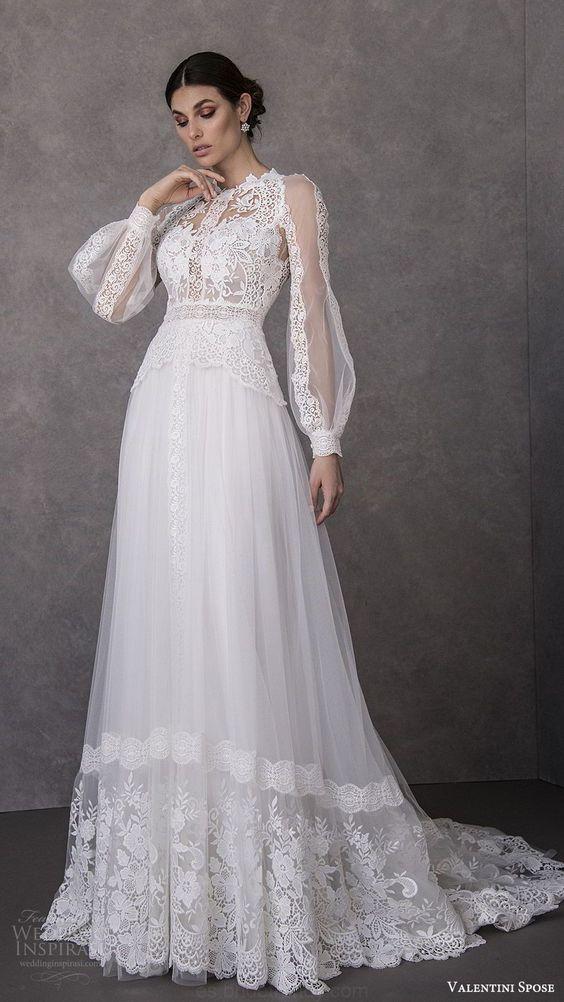 Belle robe de mariage dentellée