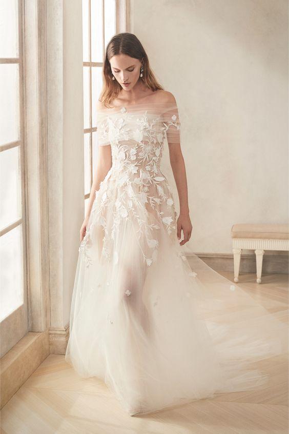 Oscar de la renta fall 2020 robe de mariée princesse