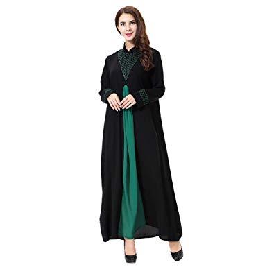 Modele Jilbab pour femme (noir/vert) Tendance 2020