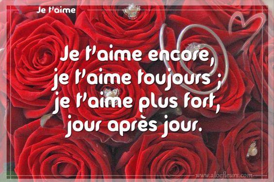 Je t'aime plus fort ...un des messages romantiques de joyeuse Saint Valentin