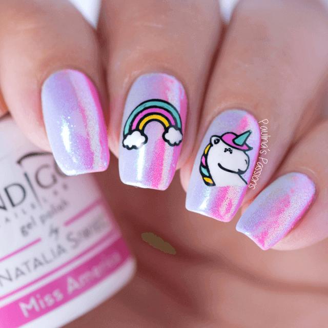 Licorne et arc-en-ciel : l'art des ongles