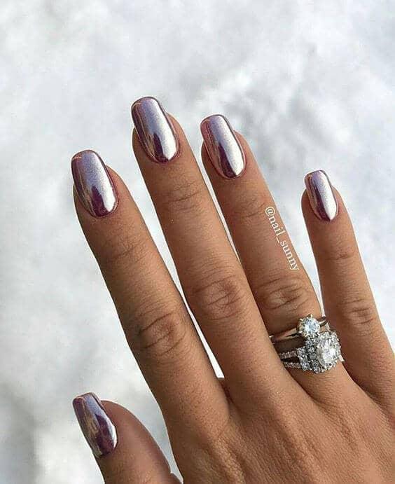 Meilleurs dessins d'ongles artificiels métalliques
